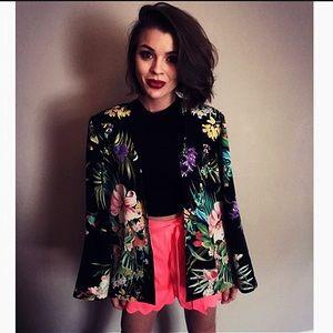 Vintage floral blazer/blouse